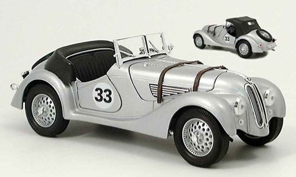 Bmw 328 1940 1/18 Yat Ming no.33 grise miniature
