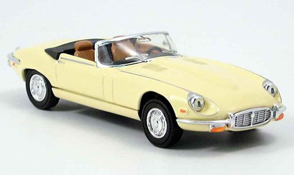 Jaguar E-Type 1971 1/43 Yat Ming 1971 jaune miniature