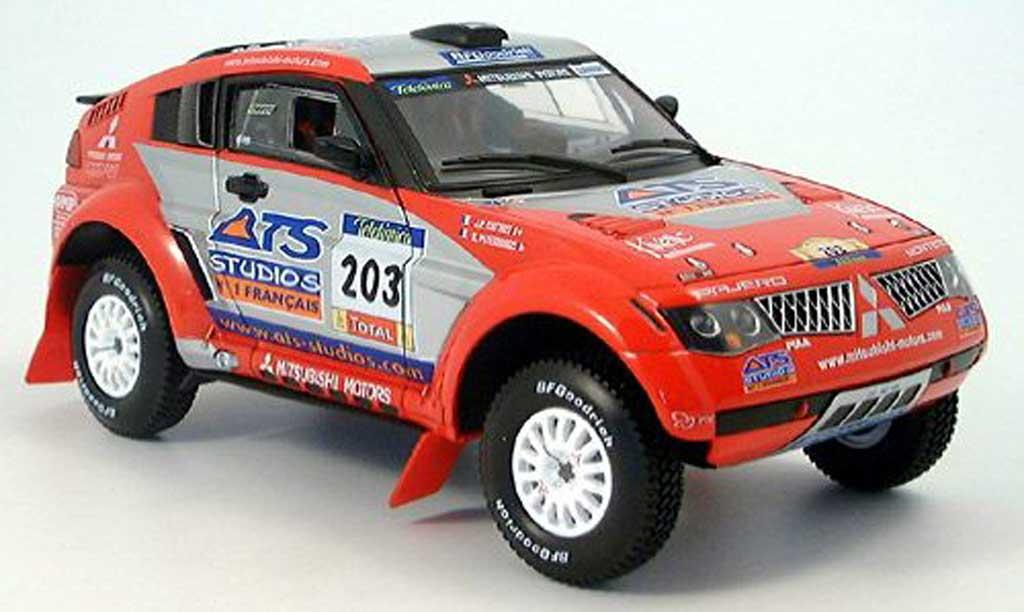Mitsubishi Pajero 1/18 Solido evolution no.203 ats rallye dakar 2004 miniature