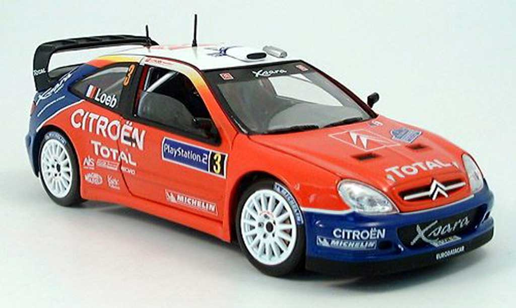 Citroen Xsara WRC 2004 1/18 Solido no.3 total sieger tour de corse miniature