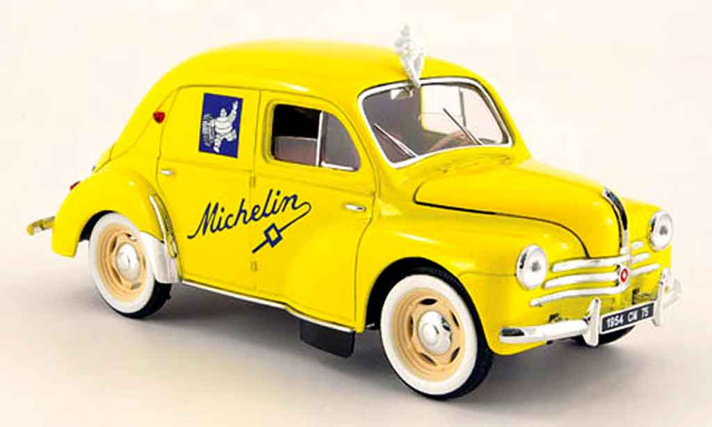 Renault 4CV 1/18 Solido michelin 1954 miniature