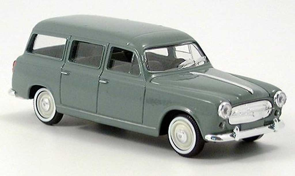 Peugeot 403 Break 1/43 Solido gris 1960 miniature