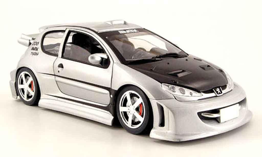 Miniature Peugeot 206 WRC tuning Solido. Peugeot 206 WRC tuning miniature 1/18