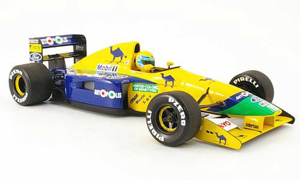 Ford F1 1991 benetton b 191 r.moreno Minichamps diecast model car 1/18