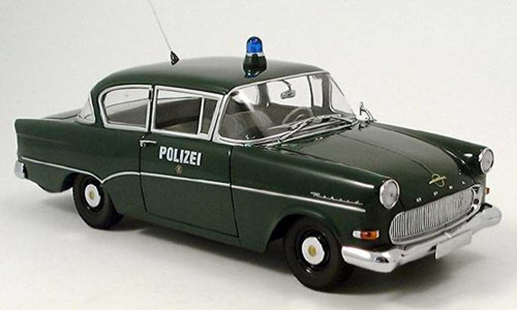 Opel Rekord 1/18 Minichamps p1 police 1958 miniature