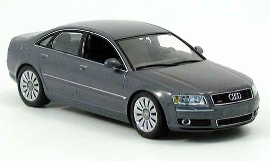 audi a8 grey 2002 minichamps modellauto 1 43 kaufen verkauf modellauto online. Black Bedroom Furniture Sets. Home Design Ideas