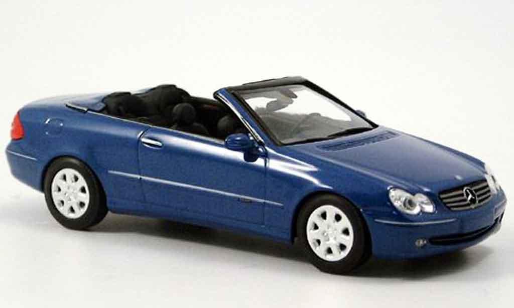Mercedes Classe CLK 1/43 Minichamps Cabriolet  bleu 2003 miniature
