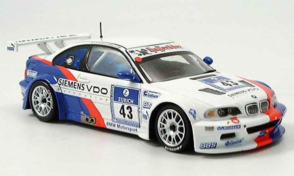 Bmw M3 E46 1/43 Minichamps GTR 2ter Nurburgring Lamy Said Huisman Stuck 2004 diecast model cars