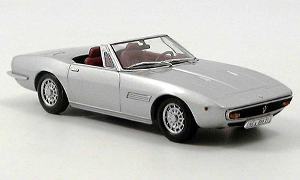 Maserati Ghibli 1/43 Minichamps Spider grise 1969 miniature