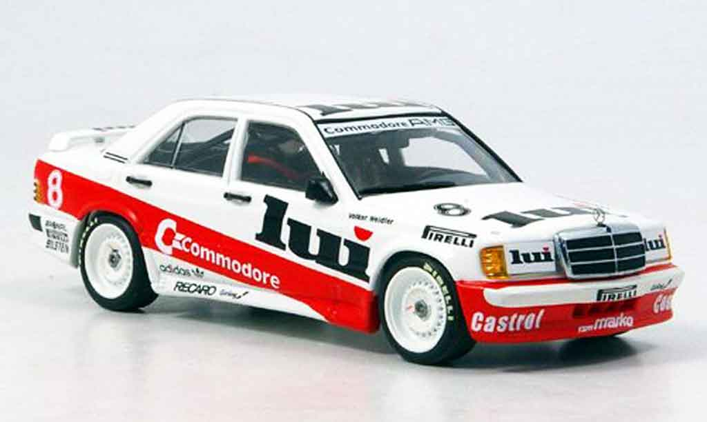 Mercedes 190 E 1/43 Minichamps DTM Commodore Weidler 1986 miniature