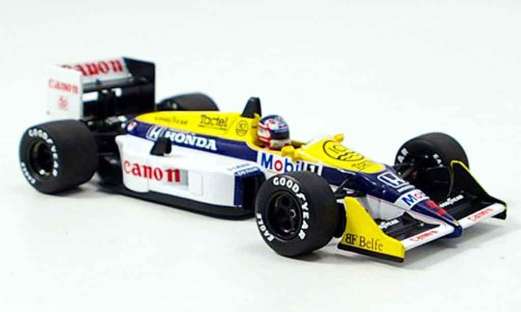 Honda F1 Williams FW 11 B N. Mansell 1987 Minichamps. Honda F1 Williams FW 11 B N. Mansell 1987 Formule 1 miniature 1/43