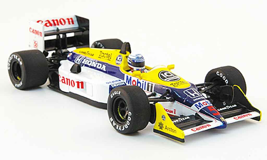Honda F1 1/43 Minichamps Williams FW 11 B No.5 Canon GP Australien 1987 diecast model cars