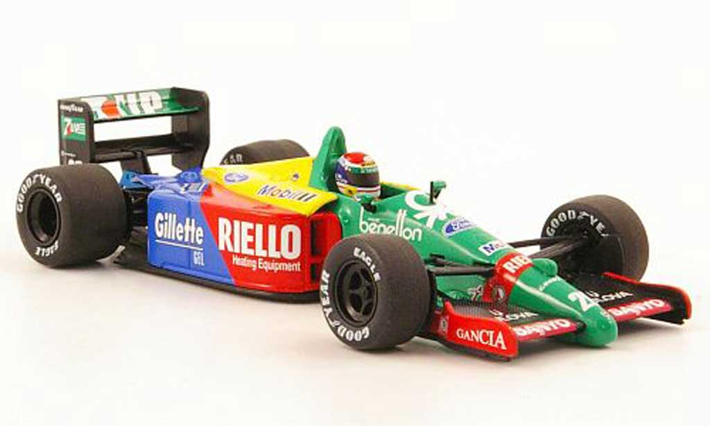 Ford F1 1989 1/43 Minichamps Benetton B 189 No.20 Riello E.Pirro Saison miniature