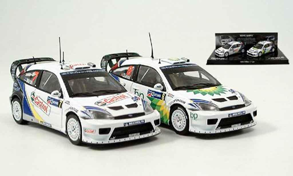 Ford Focus RS WRC 1/43 Minichamps Doppelsieg Mexico 2er Set 2004 miniature