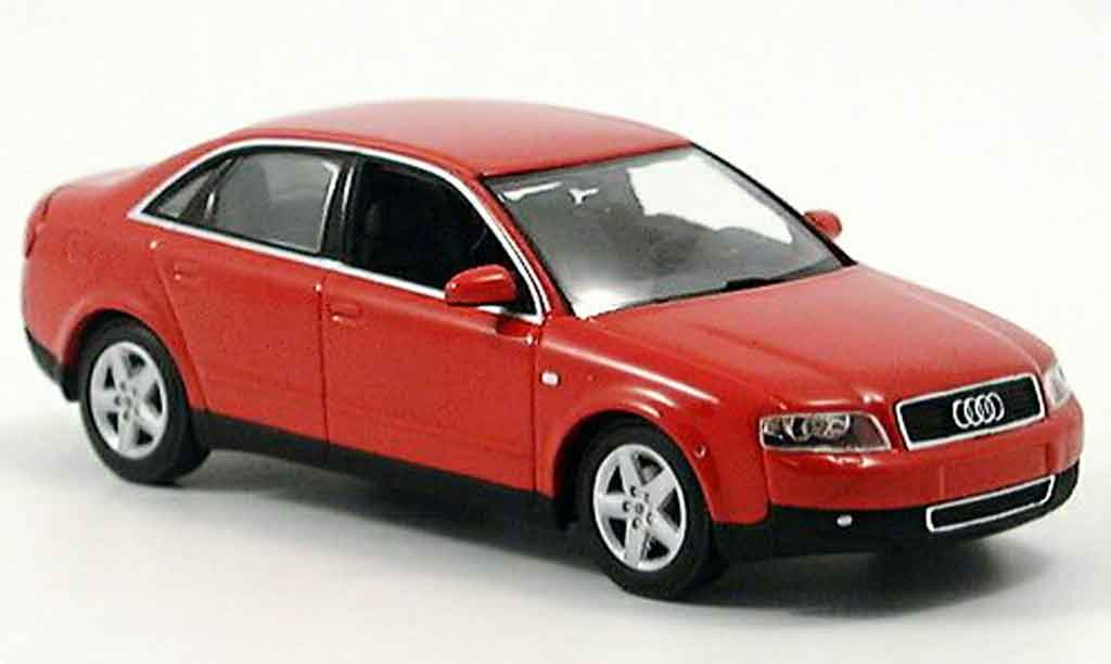Audi A4 1/43 Minichamps red 2000 diecast