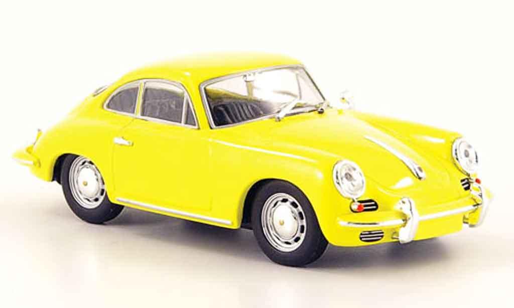 Porsche 356 1/43 Minichamps 1965 C Coupe jaune miniature