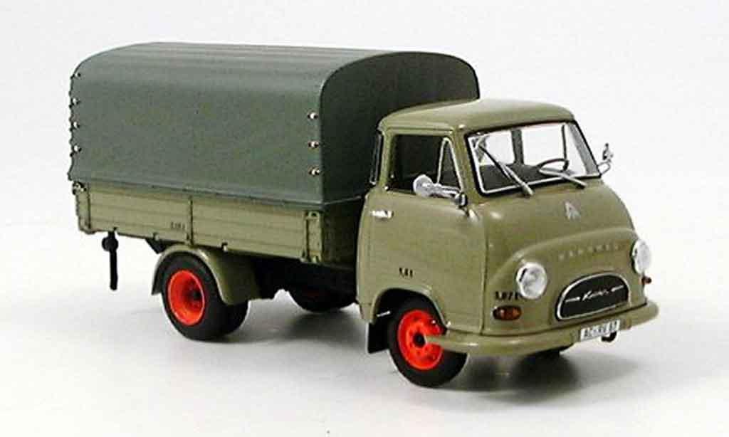 Hanomag Kurier Pritsche Gray Black Minichamps Diecast Model Car 1 43