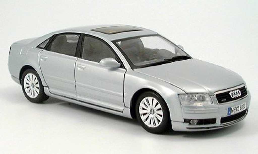 Audi A8 1/18 Motormax grise miniature