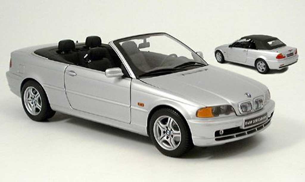 Bmw 328 E46 1/18 Kyosho ci cabriolet grise miniature