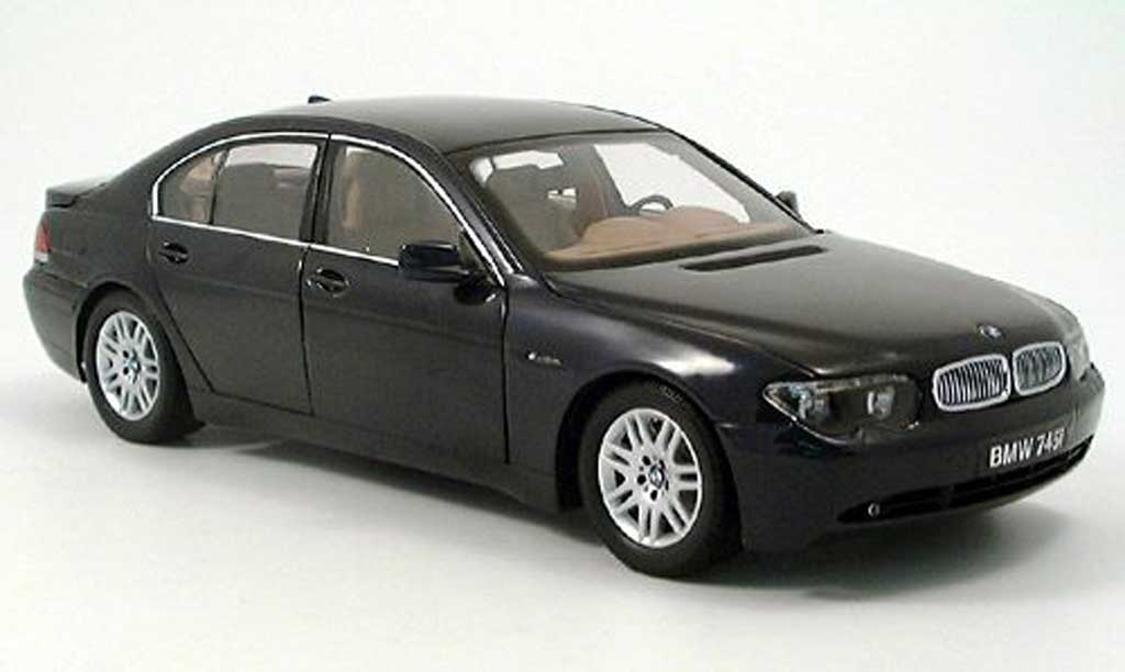 Bmw 745 E65 I E65 Black Kyosho Diecast Model Car 1 18