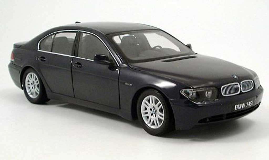 Bmw 745 E65 1/18 Kyosho 7er bleu diecast model cars