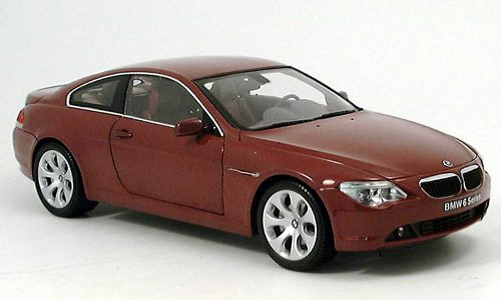 Bmw 645 E63 1/18 Kyosho CI Coupe red diecast model cars