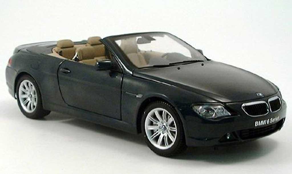Bmw 645 E64 1/18 Kyosho ci cabriolet verte miniature