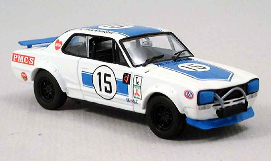 Nissan Skyline 2000 1/43 Kyosho GTR racing bleu diecast