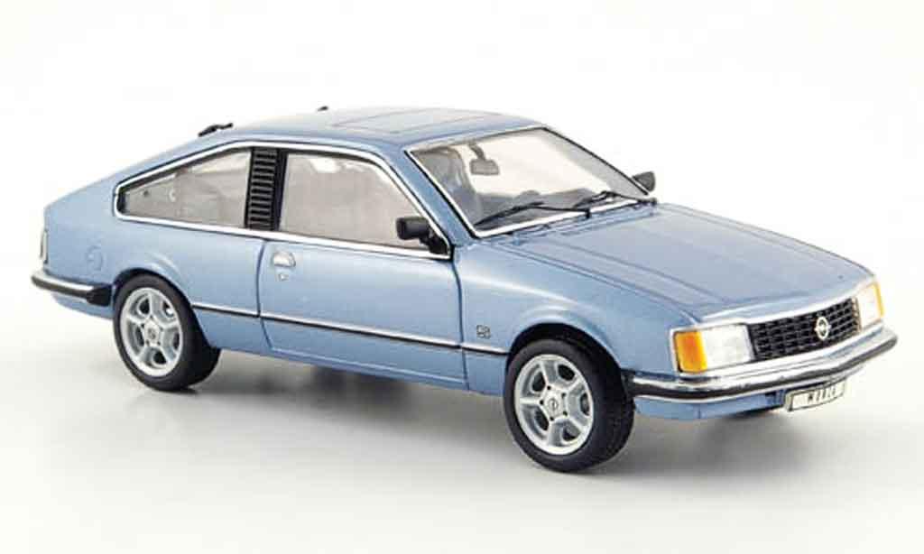 Opel Monza 1/43 Schuco bleu miniature
