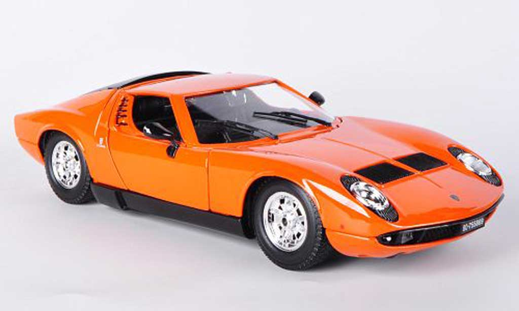 lamborghini miura orange 1968 burago modellauto 1 18. Black Bedroom Furniture Sets. Home Design Ideas