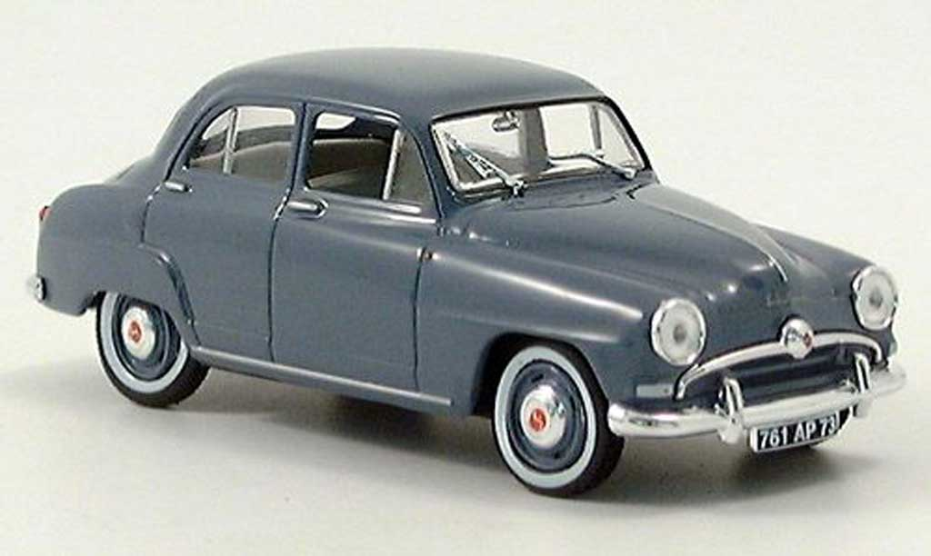 simca aronde miniature 9 gris bleu norev 1 43 voiture. Black Bedroom Furniture Sets. Home Design Ideas