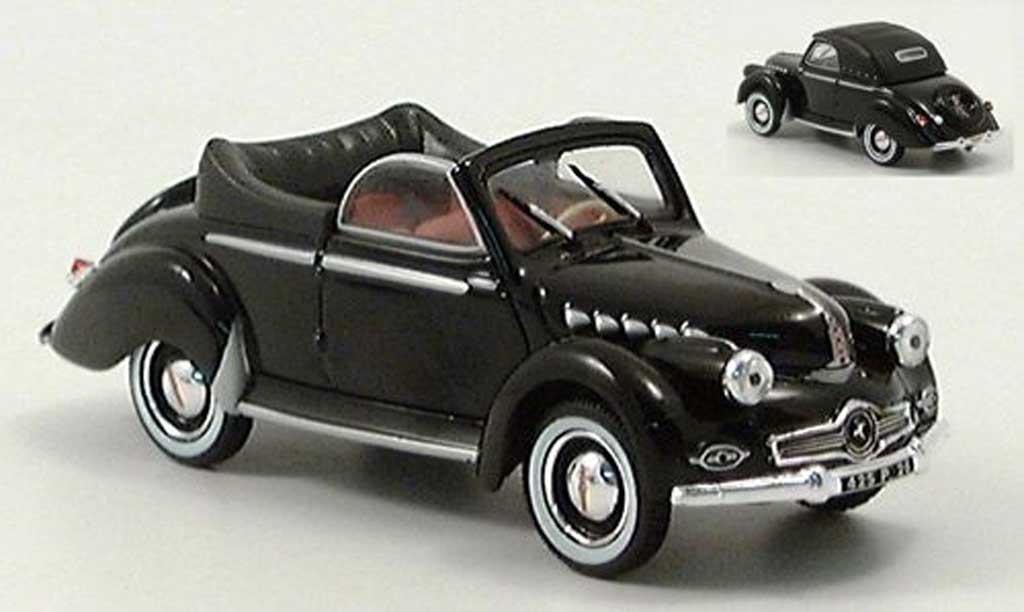 Panhard Dyna X 1950 1/43 Norev Cabriolet noire miniature
