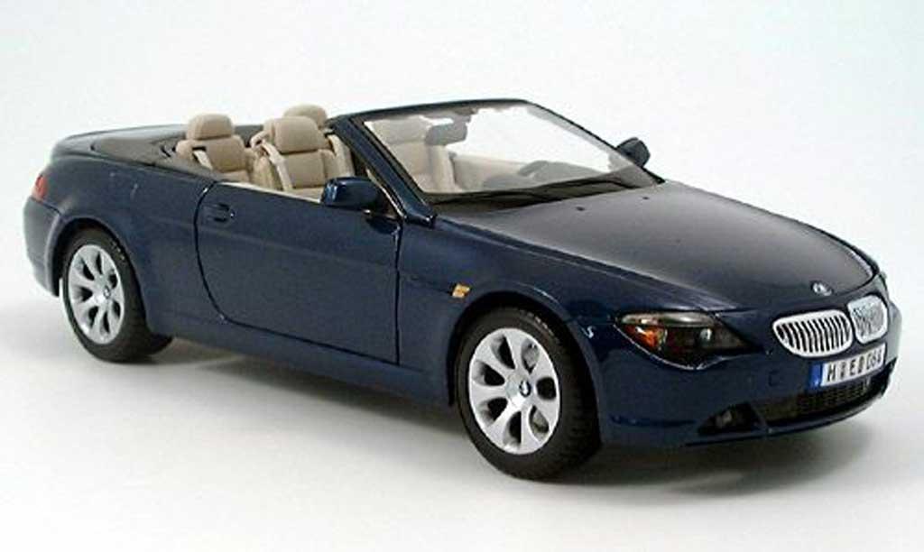 Bmw 645 E64 1/18 Maisto ci cabriolet bleu 2004 miniature
