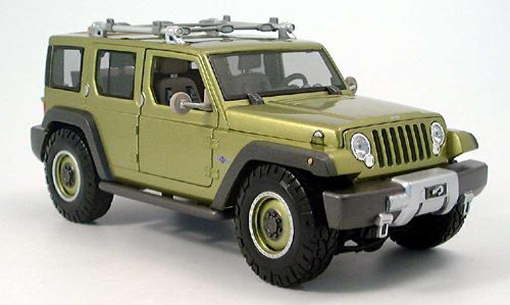 Jeep Rescue 1/18 Maisto concept verte 2005 miniature