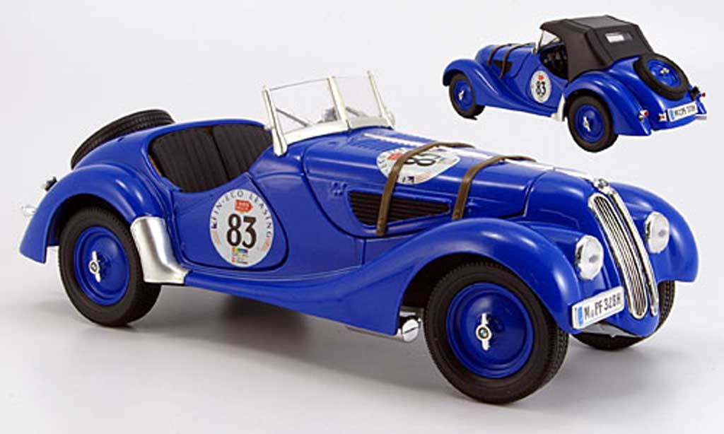 Bmw 328 1937 1/18 Ricko rallye no.83 abnehmbares verdeck miniature