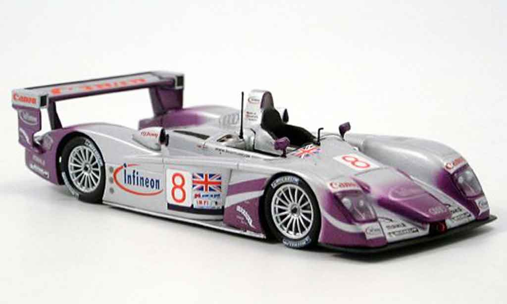 Audi R8 2004 1/43 Minichamps 2004 LeMans No. 8 Biela Kaffer McNish miniature