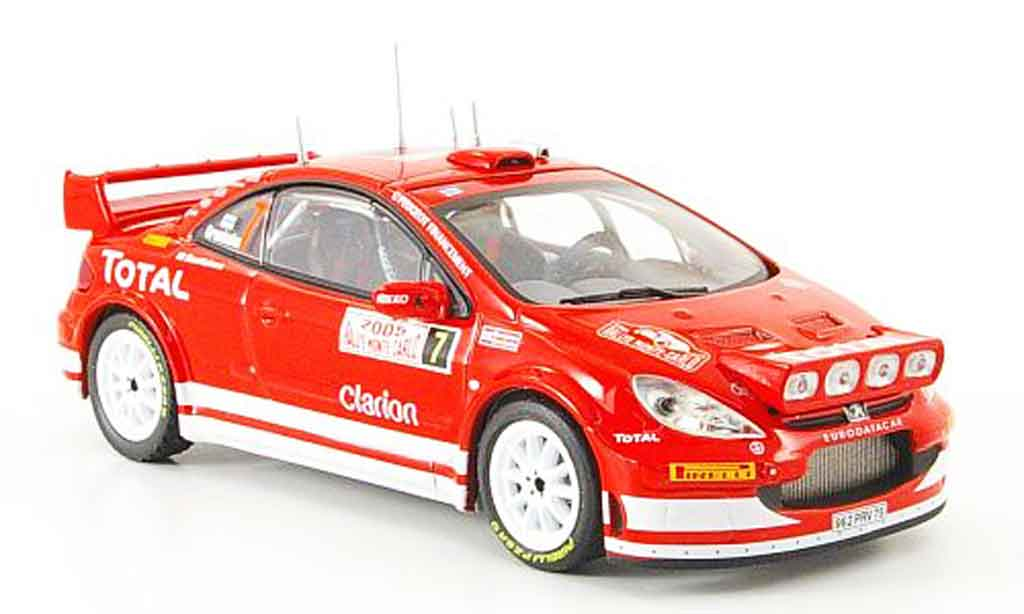 Peugeot 307 WRC 1/43 IXO no. 7 montecarlo miniature