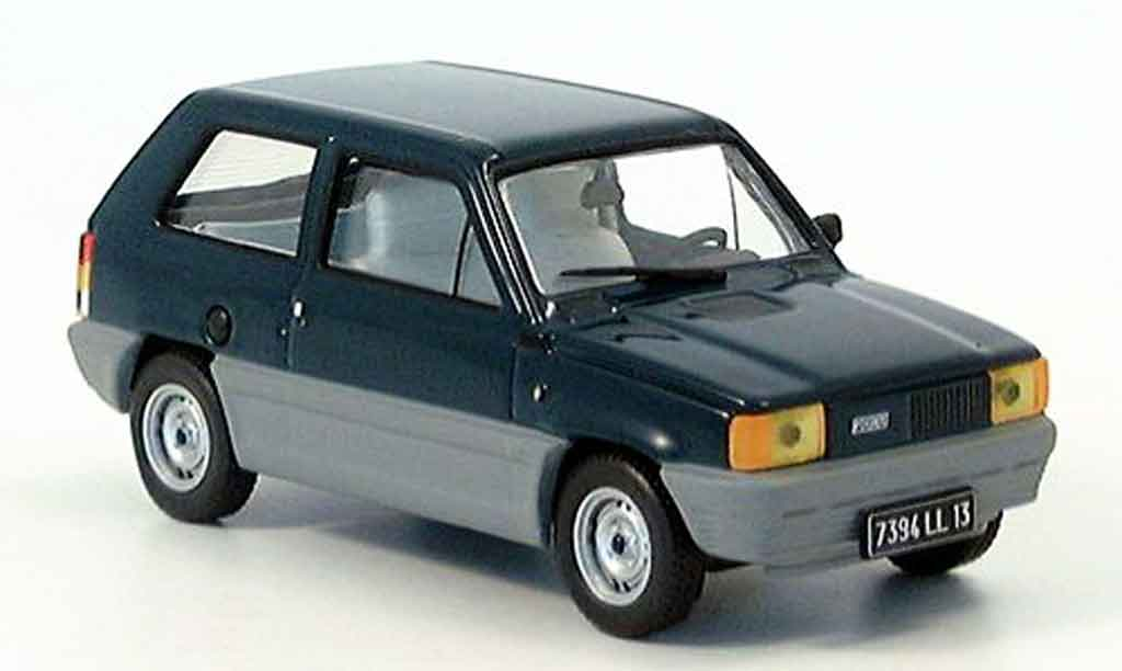 fiat panda miniature 45 bleu 1980 ixo 1 43 voiture. Black Bedroom Furniture Sets. Home Design Ideas