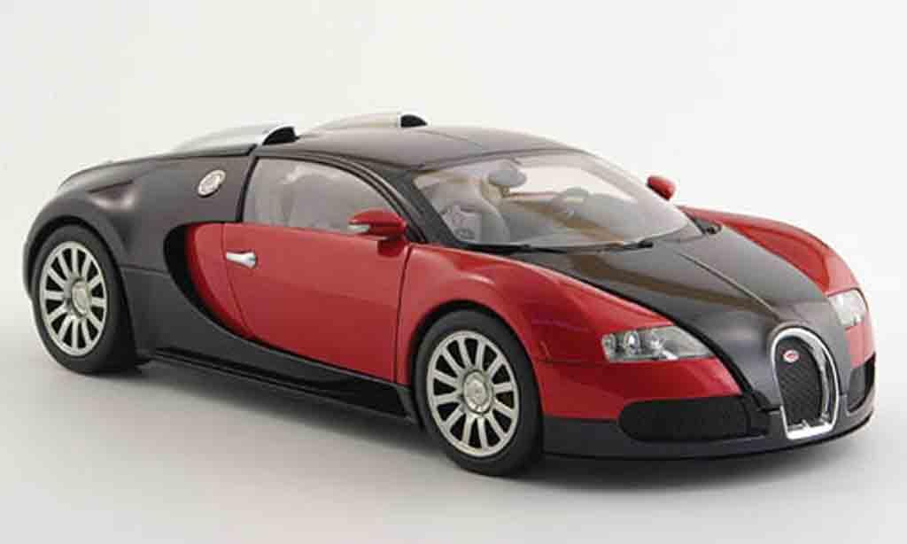 Bugatti Veyron 16.4 1/18 Autoart eb red black diecast