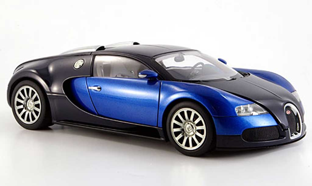 bugatti veyron 16 4 eb blue black autoart diecast model car 1 18 buy sell d. Black Bedroom Furniture Sets. Home Design Ideas