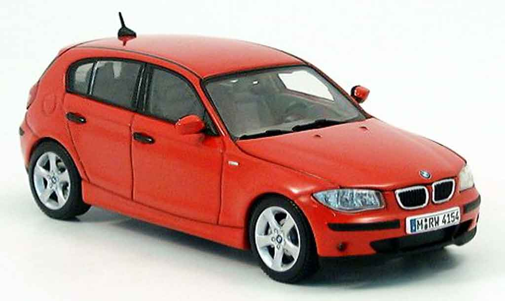 Bmw 114 E87 1/43 Autoart i rouge 2005 miniature