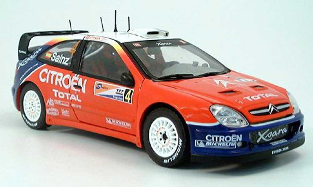 Citroen Xsara WRC 2004 1/18 Sun Star no.4 c.sainz rallye argentine miniature