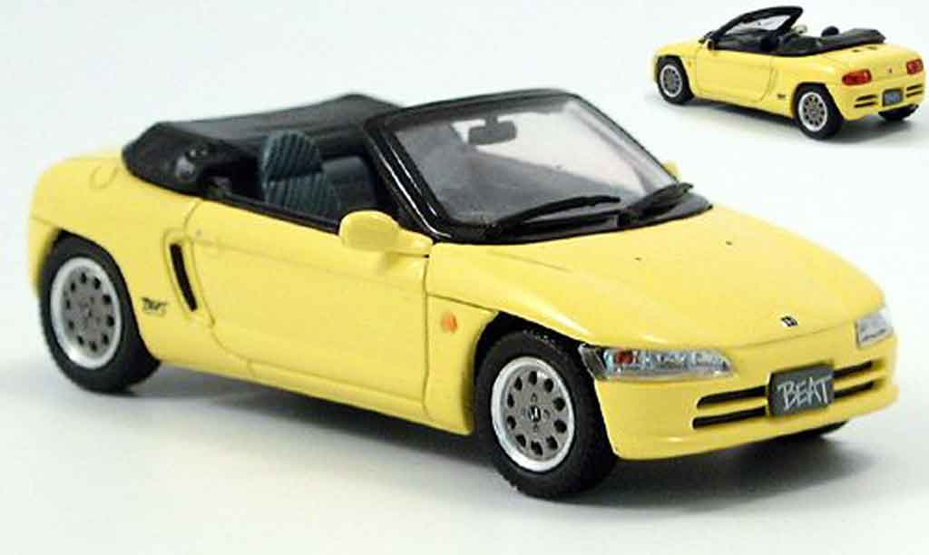 Honda Beat 1/43 Ebbro yellow Verdeck liegt bei diecast model cars