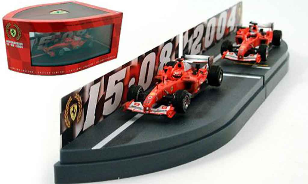 Ferrari F1 F2004 1/43 Hot Wheels Elite konstrukteursweltmeisterschaft 2004 miniature