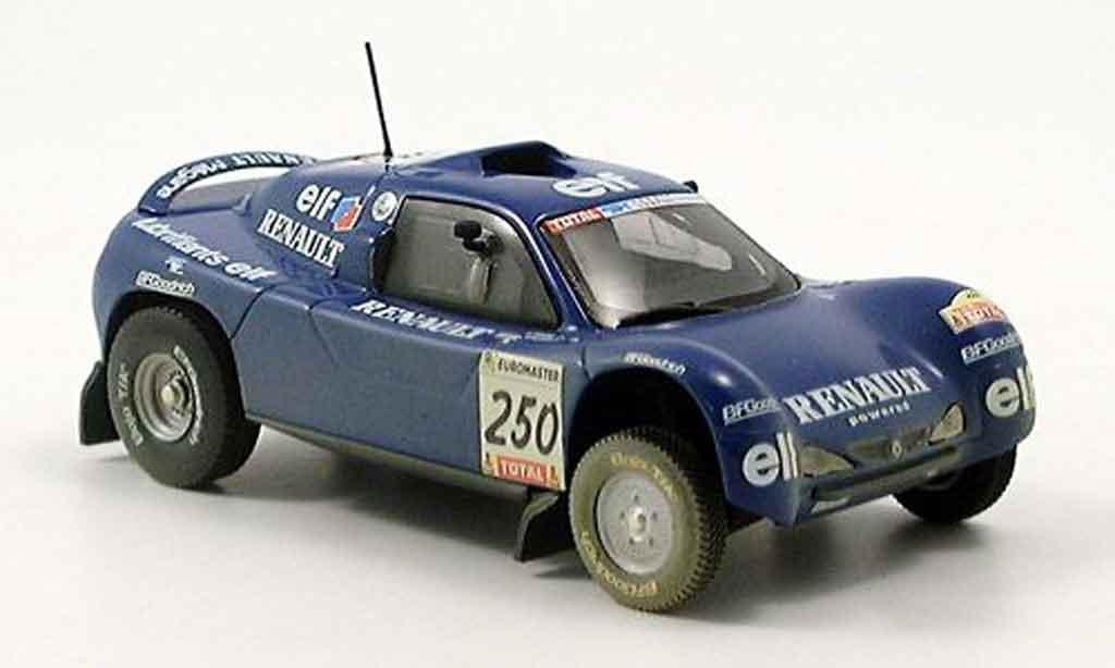 Renault Megane 1/43 Norev schlesser dakar avec schmutzeffekt 2000 miniature