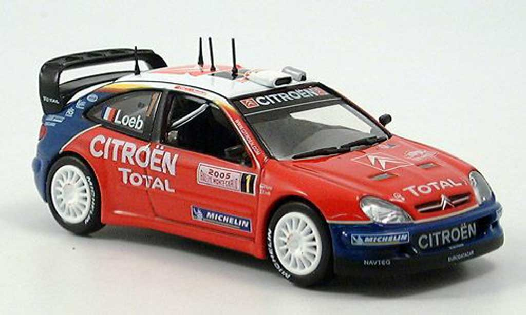 Citroen Xsara WRC 2005 1/43 Norev No.1 Total Rally Monte Carlo miniature