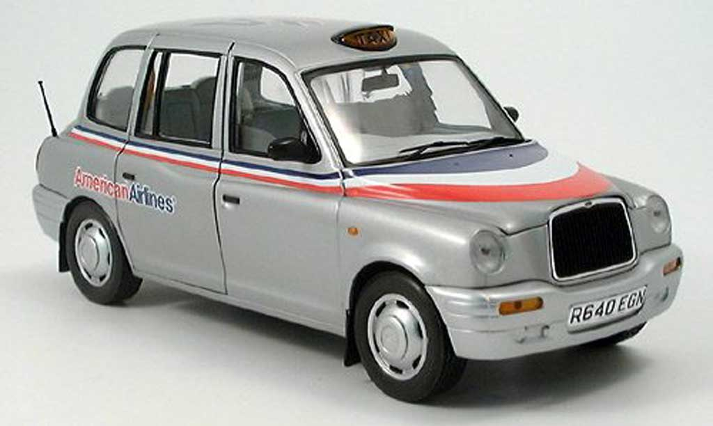 LTI TXI 1/18 Sun Star London Taxi grise metallisee American Airlines 1988 miniature