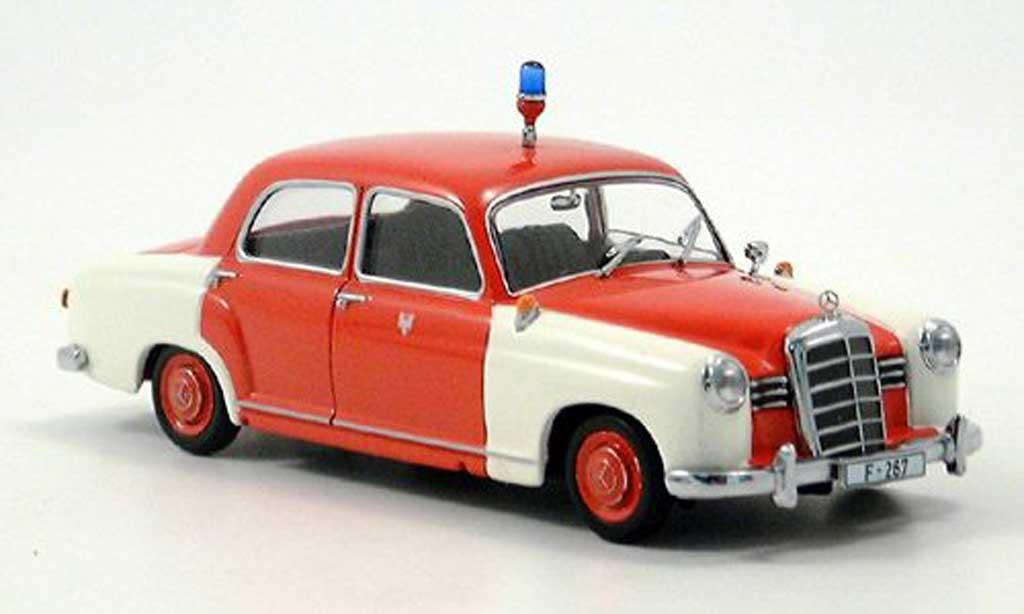 Mercedes 180 1/43 Minichamps Einsatzleitwagen Feuerwehr Frankfurt 1956 miniature