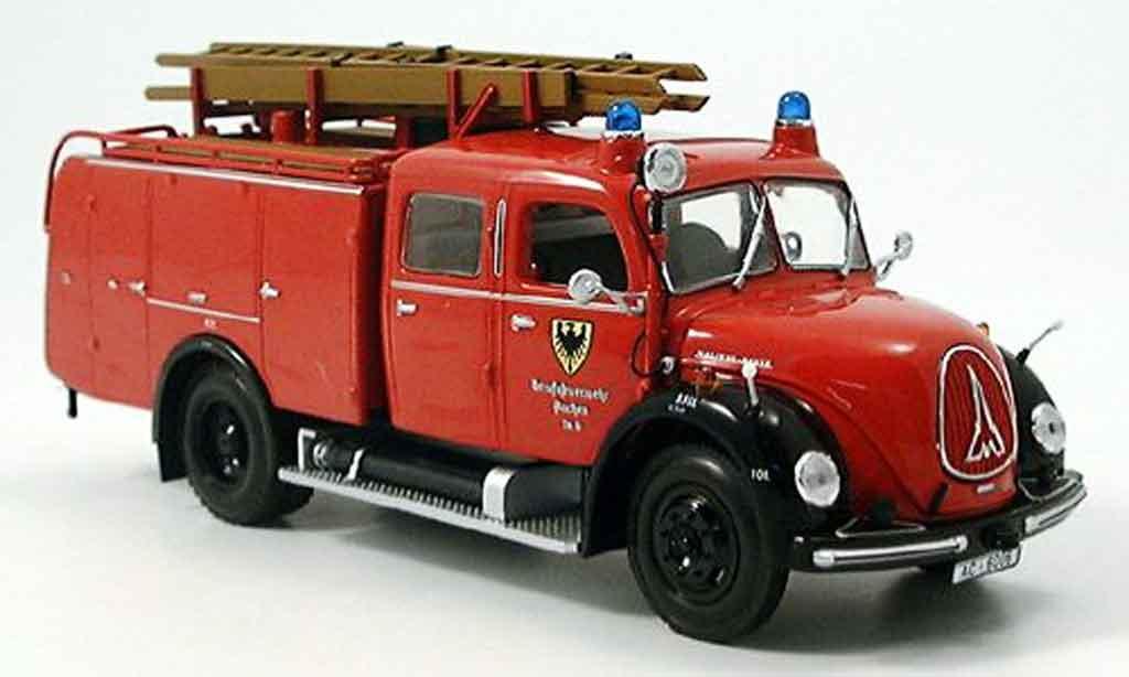 Magirus TLF 16 1/43 Minichamps Merkur pompier Aachen miniature