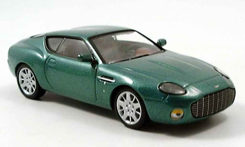 Aston Martin DB7 1/43 IXO zagato grun 2005 miniature